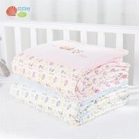 贝贝怡宝宝空调被儿童午睡盖被可爱卡通碎花婴幼儿推车毯游戏毯191P2034