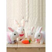 兔子毛绒玩具仿真电动可爱玩偶公仔儿童女孩生日礼物会动的小白兔