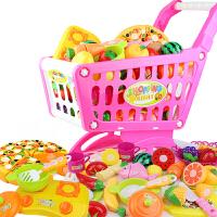 儿童过家家玩具套装大号超市购物车玩具手推车男孩女孩切水果玩具