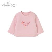 英氏女童长袖T恤婴儿衣服秋冬女宝宝打底衫上衣163332