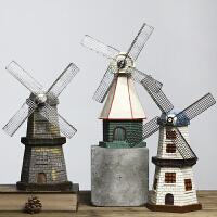 创意荷兰风车模型摆件美式家居客厅电视柜酒柜装饰品店铺摆设