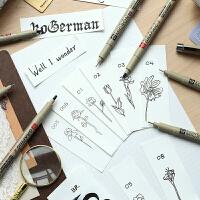日本樱花针管笔套装防水勾线笔手绘漫画设计师描边绘图学生简笔画