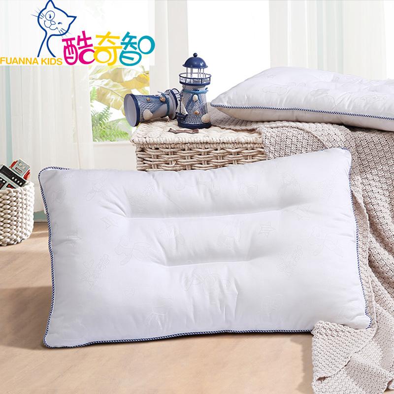 富安娜家纺 酷奇智纯棉提花枕芯 新型抗菌纤维填充儿童款/学生款适用枕头