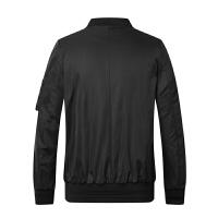 gxg.jeans男装秋季黑色棒球服潮流修身青年休闲夹克外套63621141