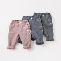 [3折价:68.1]加绒戴维贝拉秋冬新款男女童休闲裤子DB9206