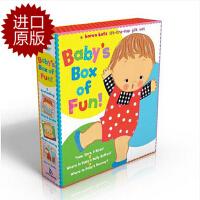 【现货】英文原版 卡伦卡茨3本纸板书盒装进口翻翻书Baby's Box of Fun: A Karen Katz Li