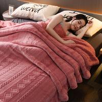 旅游用品双层毛毯被子加厚冬季珊瑚绒毯子毛巾被单人学生宿舍冬季用法兰绒 150x200CM{加大单人款}