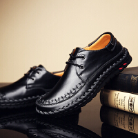 DAZED CONFUSED秋冬新款男士休闲皮鞋男透气英伦复古商务休闲鞋系带软底牛皮驾车鞋
