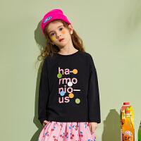 【2件3折:39】巴拉巴拉旗下巴帝巴帝女童长袖t恤儿童波点上衣2020春装新款圆领韩版女