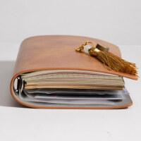 活页手账本定制可印logo简约ins风大学生旅行笔记本本子a6笔记本子文艺精致创意网红随身日记本会议记录本