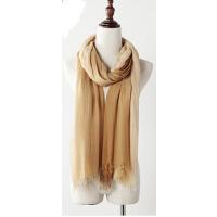 女士秋冬新款围巾披肩双色渐变围巾两用超长款丝巾空调围脖