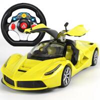 儿童礼物超大型遥控汽车可开门方向盘充电动遥控赛车男孩儿童玩具跑车模型儿童礼物