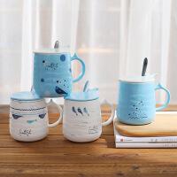 【包邮】创意海洋鲸鱼喝水杯陶瓷马克杯