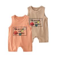 男婴儿连体衣服夏季女宝宝夏装新生儿背心无袖哈衣