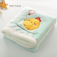 海豚妈妈婴儿毛毯儿童宝宝小毯子新生幼儿春秋被小孩薄款空调盖毯