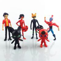 瓢虫雷迪玩具6款瓢虫女孩少女Miraculous Ladybug配瓢虫雷迪公仔手办玩具