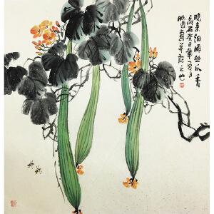 阿通《丝瓜香》著名画家