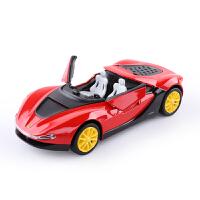 敞篷越野车跑车合金车模开门回力儿童玩具车仿真小汽车模型