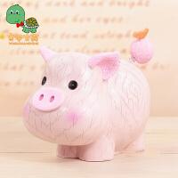 【满99减30】乌龟先森 十二生肖存钱罐猪 生日礼品创意树脂摆件