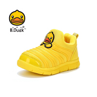 【4折价:91.6】B.Duck 小黄鸭童鞋 男童经典毛毛虫休闲鞋冬季保暖男童运动鞋B5083975