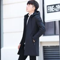 2018新款棉衣中长款冬季外套轻薄羽绒棉袄男冬装潮流加厚衣服