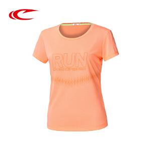 赛琪短袖运动T恤夏季2016新款RUN时尚透气圆领短袖跑步T恤116410