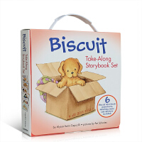 英文原版绘本 Biscuit Take-Along 6 Book Box Set 小饼干狗礼盒装6本 汪培�E推荐书单