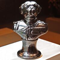 创意陶瓷摆件饰品 家居工艺品摆设 欧式复古动物装饰新房礼品礼物