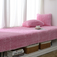 客厅阳台毛绒毯子订做飘窗垫粉少女装窗台装饰卧室防滑可机洗 长毛绒-粉红色