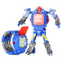 儿童变形电子手表金刚玩具学生变身创意卡通机器人男孩手表36岁儿童节礼物