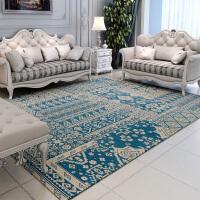 地毯客厅欧式茶几毯复古长方形编织床下简约餐桌地毯北欧风 北欧经典 湖蓝