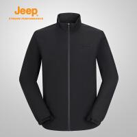 【特惠价】Jeep/吉普 男士户外开衫单穿休闲舒适运动薄夹克冲锋衣J832095097
