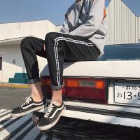 港风文艺裤子男士牛仔裤春季新款韩版潮流学生小脚裤百搭九分裤
