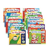 英文原版点读版牛津阅读树 Oxford Reading Tree Level 1阶 自然拼读发音入门12册分级读物无字书 支持毛毛虫点读笔