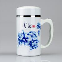 圣诞节礼物健康陶瓷保温杯内胆陶瓷水杯办公杯茶杯女士水杯男杯子印字3 带柄