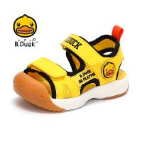 【3折价:98.7】B.Duck小黄鸭童鞋男童2020夏季新款凉鞋包头防滑耐磨儿童鞋透气沙滩鞋B2183929