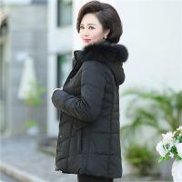 中老年羽�q服短款加厚高�F����冬�b穿的中年女�b棉衣保暖洋�馔馓�