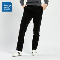 [5折秒杀价:68.9元,仅限12.7-8]真维斯男装 冬装新款 弹力灯芯绒布休闲长裤