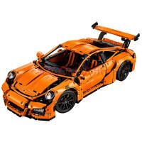 城市越野摩托车拼装积木玩具科技机械组儿童男孩8-10-12-14岁 桔色 保时捷橙色