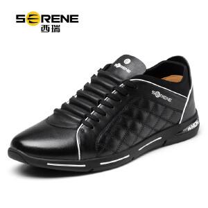 西瑞男士休闲鞋新款韩版男鞋系带单鞋潮流皮鞋男鞋8163