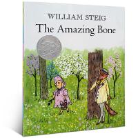 凯迪克:会说话的骨头 进口英文原版绘本 The Amazing Bone凯迪克银奖绘本 威廉史塔克William St