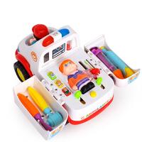 救护车音乐灯光万向车 玩具 儿童过家家医具