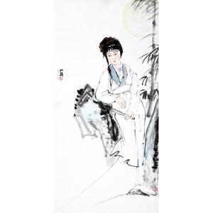 白伯骅《美女图》当代著名画家