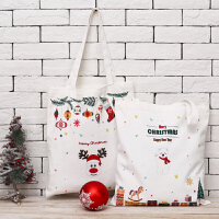 Evergreen爱屋格林创意可爱经典圣诞系列全棉文艺帆布包环保购物袋收纳袋