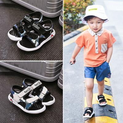 男童凉鞋儿童沙滩鞋中大童小学生包头鞋新款