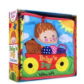 英文原版绘本 Karen Katz: Baby's Day: Cloth Book 布书 美国进口 安全环保无毒 0-3岁宝宝学习玩乐 亲子互动游戏书籍 不怕撕咬