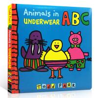【全店300减100】英文原版绘本 Animals in Underwear ABC 动物的内衣软皮硬页翻翻书 名家To