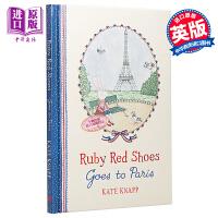 【中商原版】Kate Knapp Ruby Red Shoes goes to Paris 穿红鞋的小路比进巴黎 精品绘