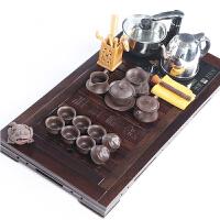 黑檀实木制茶盘大号茶具套装6人陶瓷茶杯组合整套功夫家用办公室