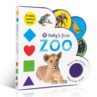 儿童英文原版 Baby's First Sound Book: Zoo 动物园 儿童低幼异形书纸板发声书 撕不烂书 亲子阅读玩具书 趣味绘本 认识动物园